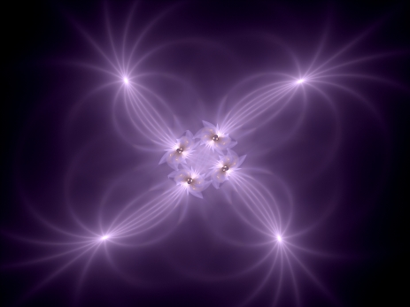 Glowing purple fantasy, computer generated fractal background